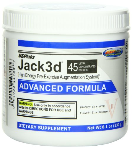 Usp Labs Jack 3D Advanced Formula Nutritional Supplements, Blue Raspberry, 8.1 Ounce
