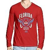 Hueman Men's Cotton T-Shirt (hue053_Red_Large)