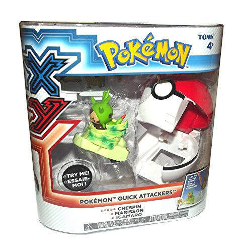 TOMY International Pokemon XY: Pokemon Quick Attackers-Chespin Play Set - 1