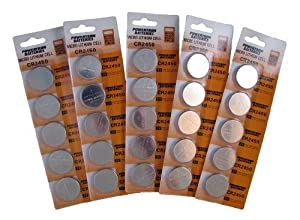 CR2450 Lithium Button Cell Batteries (Pack of 25)