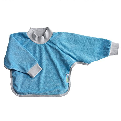 Kiddologic bibit-all Baby Bib, Sky Blue, 6 Months Plus
