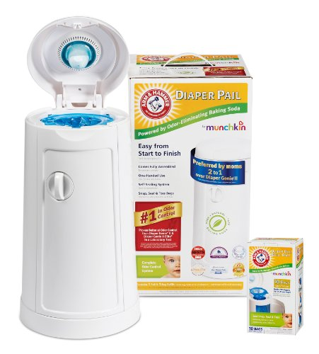 Munchkin Arm & Hammer Diaper Pail with 10 Count Refill Bags
