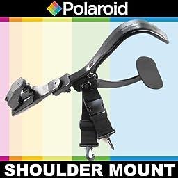 Polaroid Stabilizing Camcorder/Camera Video Shoulder Mount For The Canon Digital EOS Rebel SL1 (100D), T5i (700D), T5 (1200D), T4i (650D), T3 (1100D), T3i (600D), T1i (500D), T2i (550D), XSI (450D), XS (1000D), XTI (400D), XT (350D), 1D C, 70D, 60D, 60Da,