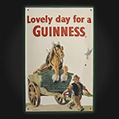 Horse In Cart Metal Sign 20 x 30cm