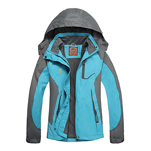 Diamond Candy Hooded Waterproof Jacket raincoat Softshell Women Sportswear BM (Women Coat Hooded compare prices)