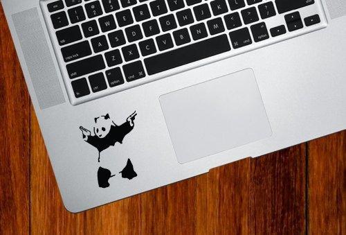 Yadda Yadda Design Co. Banksy Shooting Panda Trackpad Vinyl Decal