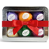 Bath Bombs Mothers Day Gift Set - USA Made - 6 Ultra Lush Organic & All Natural Essential Oil Fizzies. Best Spa & Beauty Product. Relaxation, Stress Relief and Dry Skin Relief Is Just One Bathtub Away! A Unique Gift for Her. Infused With Organic Shea and Cocoa Butter