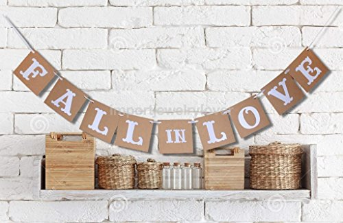 CYNDIE Hot Sale New Vintage Falling in Love Bunting Banner Wedding Photo Props Hanging Garland