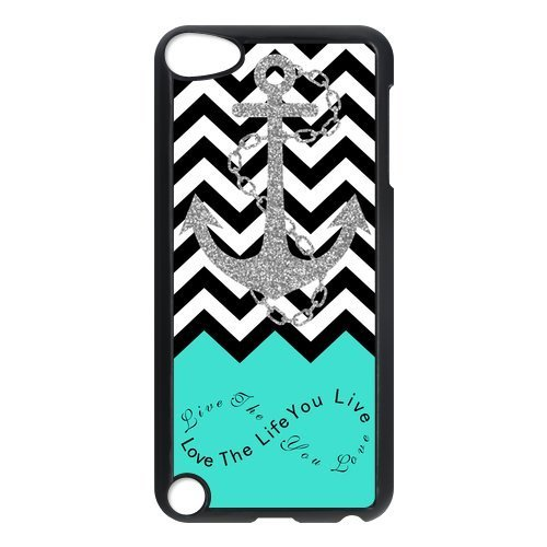 Shark®Love the Life You Live Live the Life You Love Infinity Chevron Anchor Cover Case for iPod Touch 5 (Shark Ipod Case compare prices)