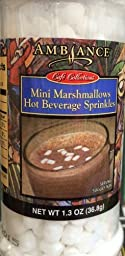 1.3oz Ambiance Coffee Collections Hot Beverage Sprinkles, Mini Marshmallows, Pack of 1