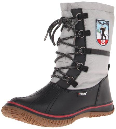 Pajar Women's Grip Low Boot,Black/Silver,37 EU/6-6.5 M US