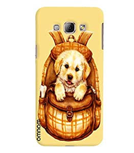Omnam Beautiful Dog In Bag Printed Designer Back Cover Case For Samsung Galaxy A8