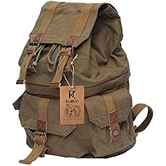 Kattee Canvas DSLR SLR Camera Backpack Rucksack Bag