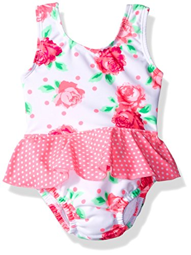 Sea Me Swim Baby Rosey 1pc Swimsuit with Built in Diaper, Multi, 12-18M (Suits For Baby)