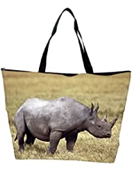 Snoogg Abstarct Rhino Designer Waterproof Bag Made Of High Strength Nylon