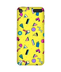 Yellow Graphic Back Cover Case for Apple iPod Touch (5th generation)