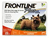 DFRSMPLUS 3-Pack 0 to 10 Kg Plus Dogs Flea and Tick Treatment, Small, Orange