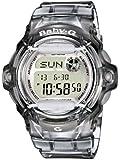 Baby-G BG-169R-8ER Women's Quartz Watch with Grey Dial Digital Display and Grey Resin Strap