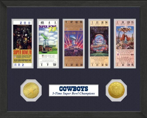 Highland Mint Dallas Cowboys Super Bowl Champions Ticket Collection