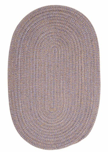 American Made Textured Rug 10-Feet by 10-Feet Round Amethyst Check Carpet