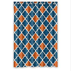 Huyny Diy Best Seller Moroccan Orange And Navy Cornflower Blue Mo