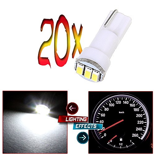 CCIYU 20x T5 17 74 73 3-3014SMD Instrument Gauge Dash Indicator LED Light Bulbs White For 1996-1997 1999-2003 GMC C3500 C2500 Suburban C2500 C1500 Suburban C1500 Savana 3500 Savana 2500 (1997 Toyota Tercel Dash Parts compare prices)