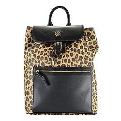 Tory Burch Kerrington Leopard Animal Print Flap Backpack