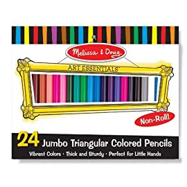 Melissa & Doug Jumbo Triangular Colored Pencils (Set of 24)