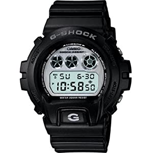Casio Mens Limited Edition G-Shock - Matte Black with Mirror Dial - Flash Alert