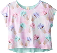 Truluv Big Girls39 Allover Ice Cream Boxy Top