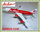 Airbus A340 Air Asia Airasia.com Airlines Metal Plane Model 16cm