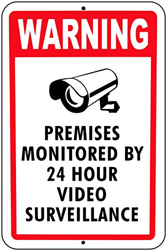 VIDEO SURVEILLANCE SIGN Property Protected By 24 Hour CCTV
