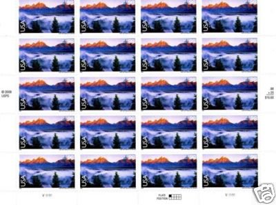 Grand Teton National Park, 1 Sheet 20 x 98 cent stamps