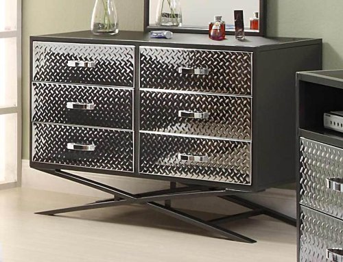 Spaced Out Gun Metal Grey Kids Drawer / Dresser By Homelegance Furniture (813-5)