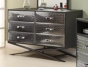 Spaced Out Gun Metal Grey Kids Drawer / Dresser By Homelegance Furniture