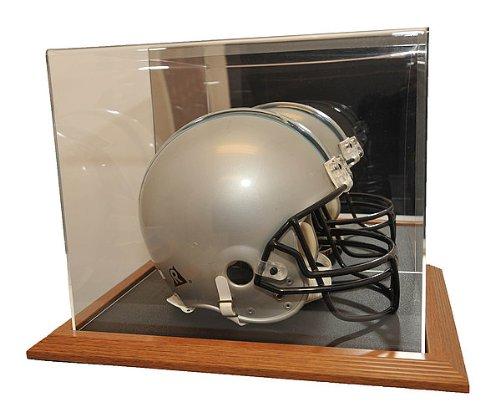 Natural Color Framed Base Helmet Display