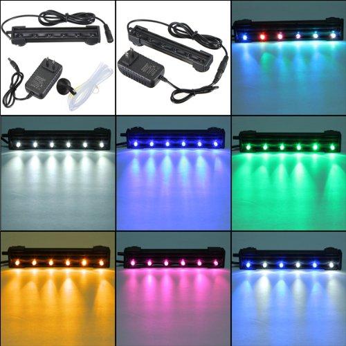 6-LED-12CM-Wasserdicht-Aquarium-Stab-Licht-Lampen-Luftblase