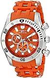 "Invicta Men's 0139 ""Sea Spider Collection"" Stainless Steel and Orange Polyurethane Watch"