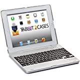 Cooper Cases(TM) Kai Skel Apple iPad 2/3/4 Clamshell Keyboard Case in Silver (MacBook-like Design, Built-in QWERTY Keyboard, Bluetooth 3.0 Connection, 82 Keys, 60 Hour Rechargeable Battery, Auto Sleep/Wake)