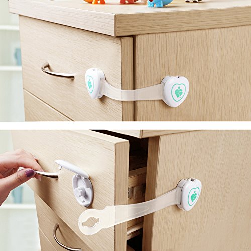 baby mate 12 pcs baby safety cabinet and drawer latches child safety adhesive ebay. Black Bedroom Furniture Sets. Home Design Ideas