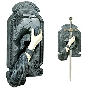 Lady Of The Lake Sword Holder 6422 - Collectible Celtic Decoration Statue