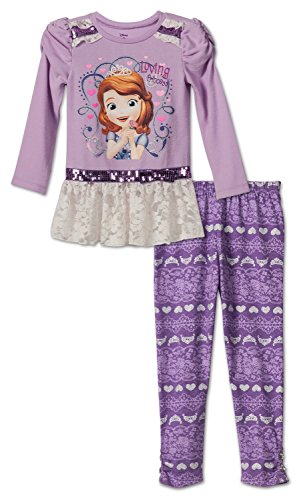 Disney Sofia The First Toddlers Fashion Legging Set , Size 3T (Sofia The First Clothes compare prices)