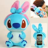 Authentic iPlush Plush Toy Cell Phone Case for iPhone 4 / 4S - Company Direct Sell 100 Percent Authentic (Blue Stitch)