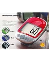 Rouge- Podomètre /Calculatrice de distance et calorie avec Clip Ceinture