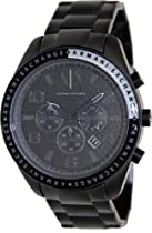 Armani Exchange Chronograph Black Dial Black IP Stainless Steel Mens Watch AX1255