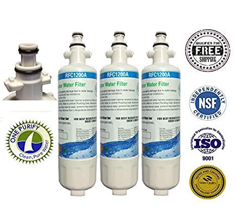 3 Pack - OnePurify Water Filter to Replace Panasonic, LG, LG Premium, Kenmore, Kenmoreclear!,