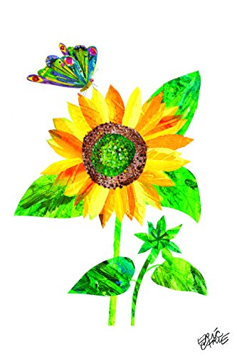 Marmont Hill Eric Carle's The Very Hungry Caterpillar Sunflower-4 Pose Canvas Wall Art, 12 by 18-Inch