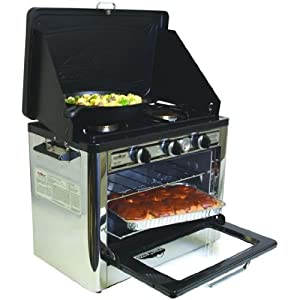 Camp Chef Camping Outdoor Oven with 2 Burner Camping Stove by Camp Chef
