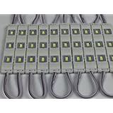 CO-RODE 40Pcs Waterproof 12v Injection 5730 SMD LED Module Light Lamp with lens for LED Channel letter Pure White (Color: Pure white)