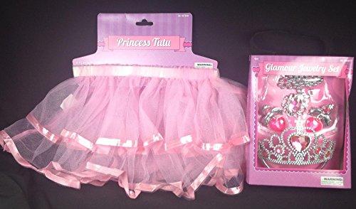 Princess Ballerina Tutu and Matching Glamour Jewelry Set Dress Up Halloween NIB (80s Dress Up Ideas For Men)